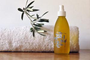 Extra Natives Olivenöl für die Haut und Haar